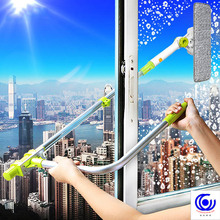 Hot Upgraded Telescopic High-rise Window cleaner Cleaning Glass Brush For Washing Windows Dust Clean Hobot цены онлайн