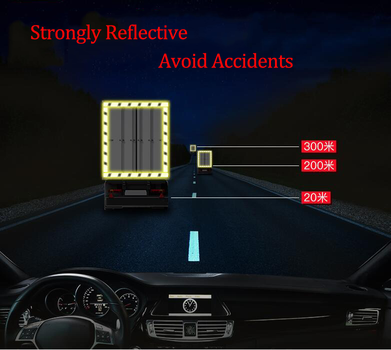 Купить с кэшбэком 5cmx25m Safety Mark Reflective tape stickers car-styling Self Adhesive Warning Tape Automobiles Motorcycle Reflective Film