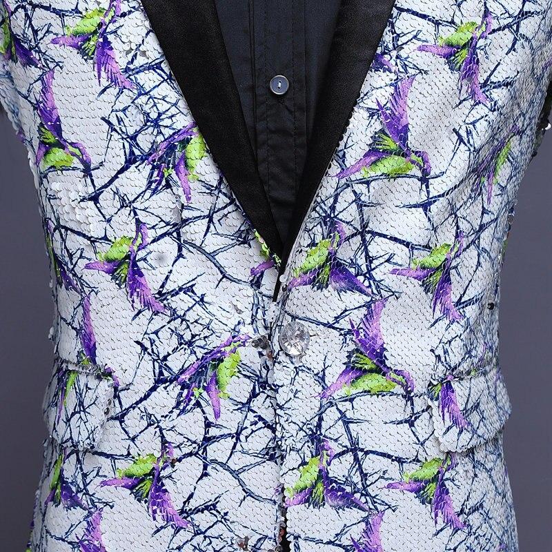 Stilvolle Herren Glitter Blazer Männer Pailletten Blazer Heren Colberts Americana Hombre Bling Anzug Männer Jacke Blazer Steampunk Homme - 6