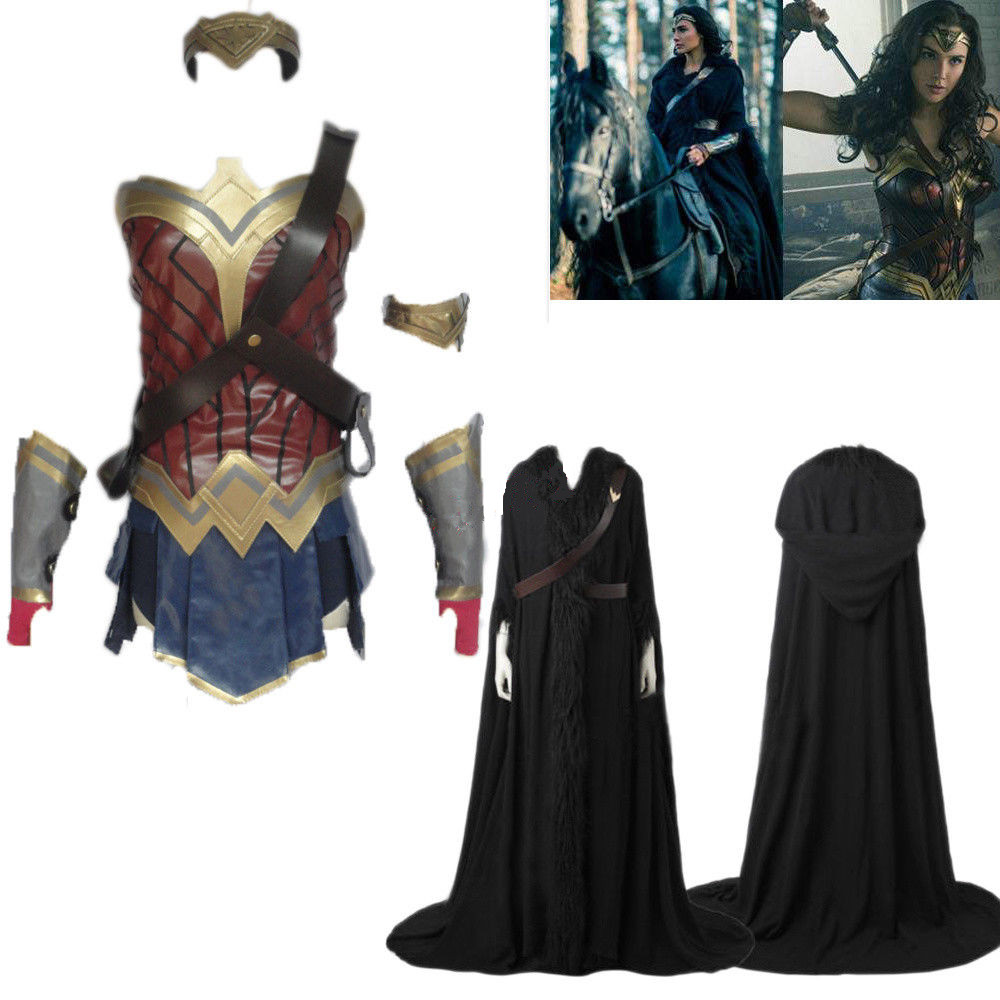 2017 New Wonder Woman Cosplay Costume Fancy Dress Outfit -3912
