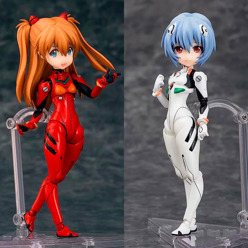NEON GENESIS EVANGELION EVA Ayanami Rei and Asuka Langley Soryu Action Figures PVC Collection Figures toysNEON GENESIS EVANGELION EVA Ayanami Rei and Asuka Langley Soryu Action Figures PVC Collection Figures toys