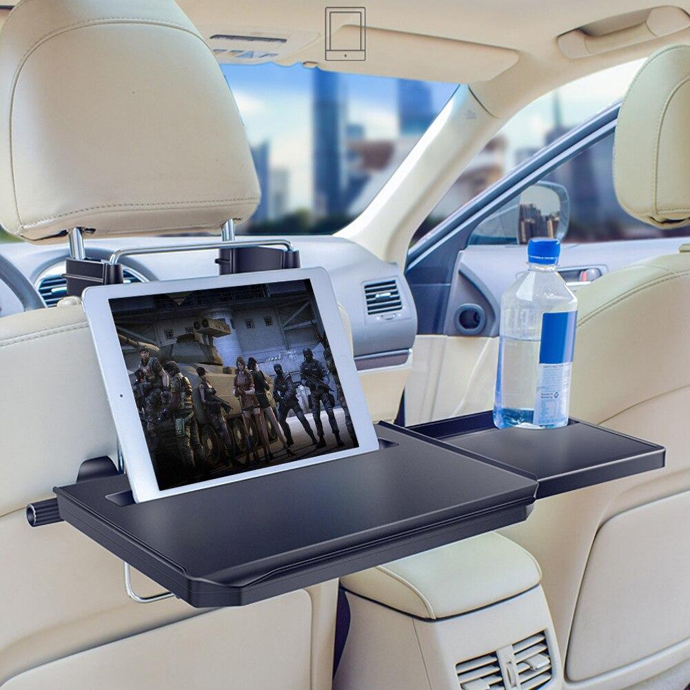 Voiture multi-fonctionnelle écriture ordinateur portable à manger nourriture boisson plateau de travail voiture volant siège appuie-tête bureau Auto intérieur fournitures