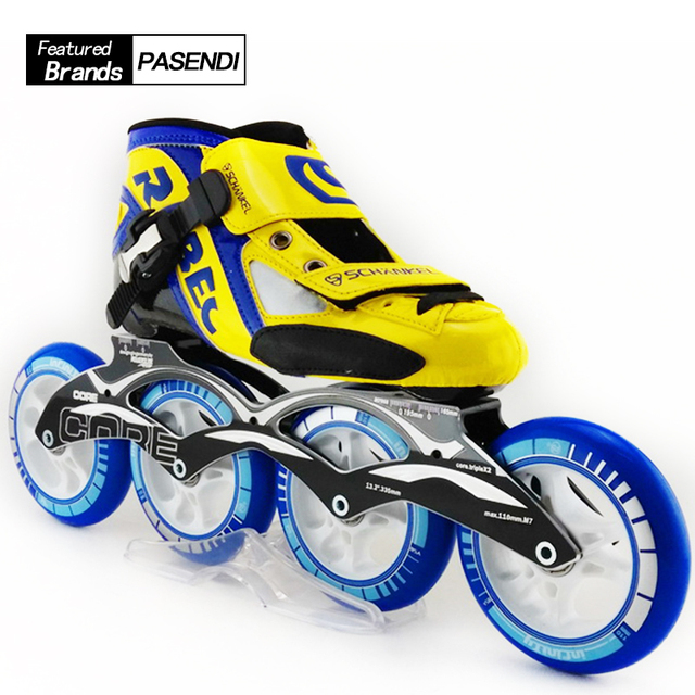 US $136 5 35% OFF|Professional Speed Inline Skating For Adult High Strength  Glass Mens Speed Roller Skating Shoes New Creative Kids patins-in Skate