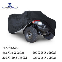 X Autohaux 190T Polyester Taffeta Black Universal All Weather Vehicles Car Cover Waterproof Wind Proof UV