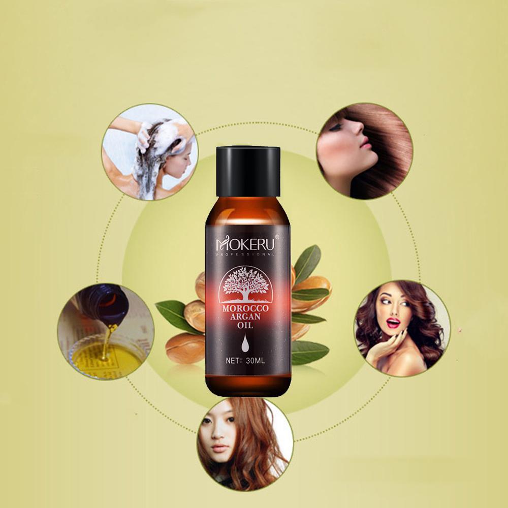 Mokeru 30ml Repairing Damage Dry Hair Moisturizing Nourishing Pure Argan oil hair care essential oil for hair growth Treatment 3
