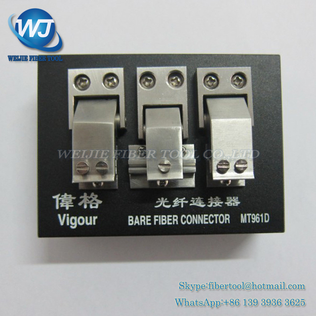 Vigour MT961D High Precision Bare Fiber Connector V type slot fiber optic connector MT-961D naked optical fiber connecting tool