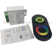 LED RGB Controller 12V 24V 18A 3 Channels Black White Touch for SMD 5050 Strip Light