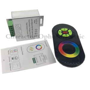LED RGB Controller 12V 24V 18A 3 Channels Black White RGB Touch Controller for SMD 5050 RGB LED Strip Light