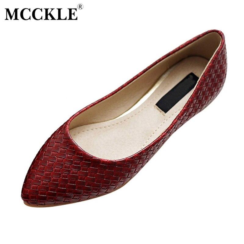 MCCKLE Venta Caliente Mujeres Casual Zapatos Planos de Las Señoras de Moda Ofici
