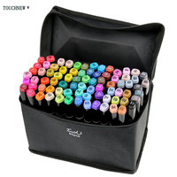TouchNew Marker 30 40 60 80 Color Alcoholic Oily Based Ink Art Marker Set Best For