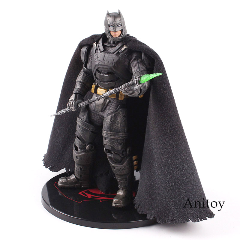 MEZCO Action Figure Batman V Superman Dawn of Justice Armored Batman One 12 Collective PVC Collectible Model Toy with LED Light original xiaomi mi box tv box 4k quad core 3 android 6 0 2g 8g smart hdr movie set top box multi language netflix youtube google