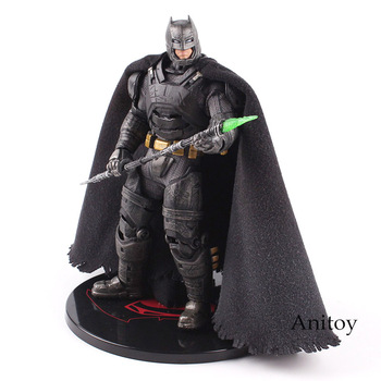 MEZCO Action Figure Batman V Superman Dawn of Justice Armored Batman One 12 Collective PVC Collectible Model Toy with LED Light
