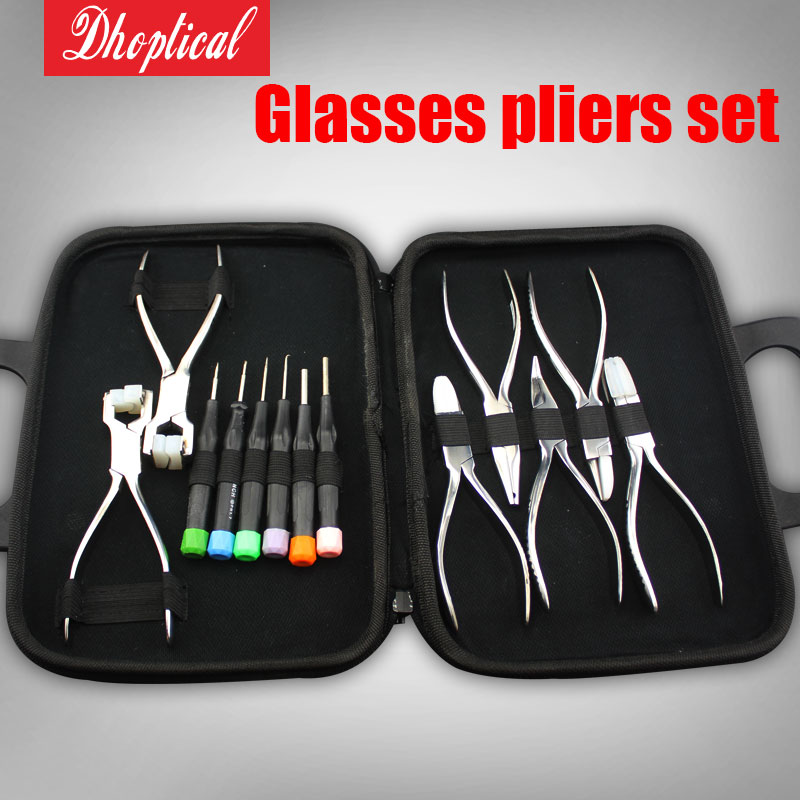 Здесь продается  eyeglasses plier set 7 pliers  6 scrrew driver glasses fix tool RB012 eyeglasses shop use  Одежда и аксессуары