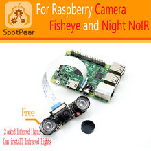 Raspberry Pi 3/4B Fisheye Lens 160 degree Night Version NoIR Camera 1080p 5MP(China)