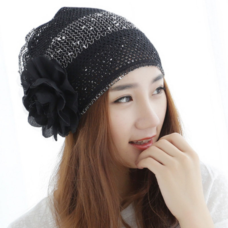 Wholesale Ladies Spring And Summer Korean Version Lace Breathable Hat Fashion Cap Head Pile On The Month Of Adult