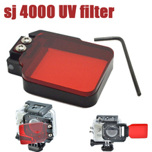 Ir pro Acessórios SJ4000 SJ4000 Lctech TM Vermelho Filtro len Para SJ4000 6000 Wi-fi gopro hero 3 + 4 caso Da Habitação de Mergulho à prova d' água