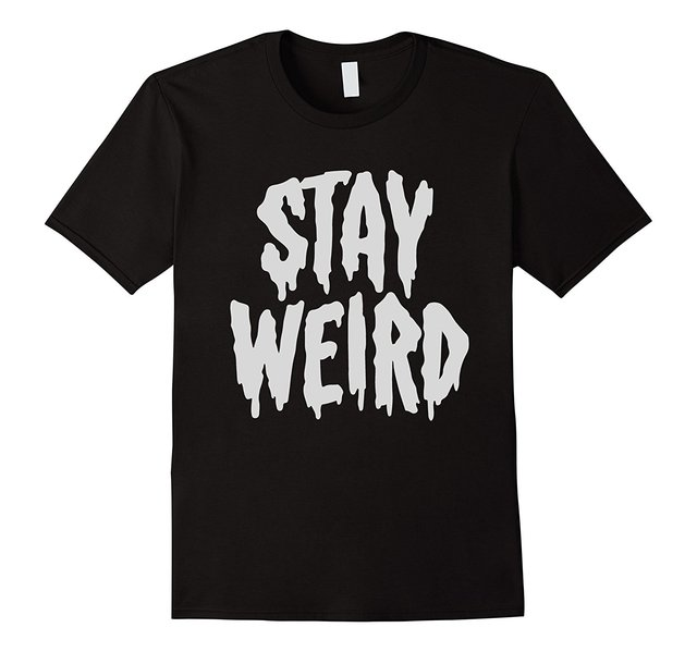 """Stay Weird"" Creepy Cute Pastel Goth Graphic T Shirt 100 Percents Cotton T Shirts For Man Top Tee Men T Shirt Free Shipping Plus Size by Ali Express"