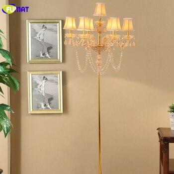 Fumat الكريستال مصابيح الكلمة الحديثة الفن معدن حامل أضواء أضواء غرفة المعيشة السرير النسيج الظل مصباح الكلمة