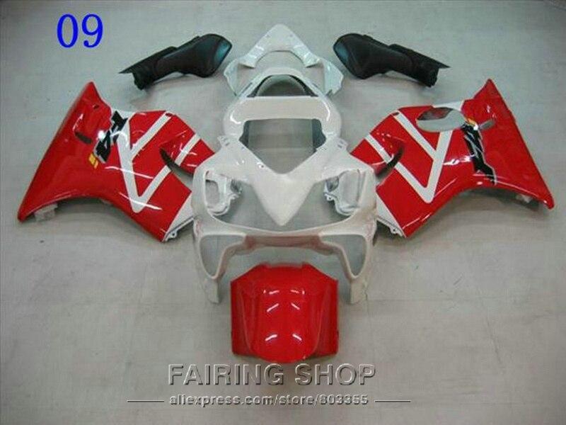 Red White Fairings for Honda CBR 600 F4i 2003 2002 2001 cbr 600F4i 01 02 03 Injection mold Fairing kit ll113