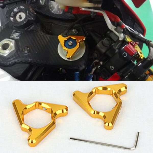 Hexagon Anodized One pair 19mm Gold Motorcycle Aluminum Fork Preload Adjusters Screw Cap For Z750 R1 GSXR 1000 D15 Universal free shipping for bmw s1000rr motorcycle accessories 17mm fork preload adjusters 2pcs gold