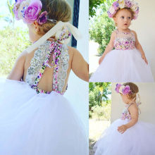 Sequins Toddler Baby Kids Girls Dress Cute Baby Girl Tulle T