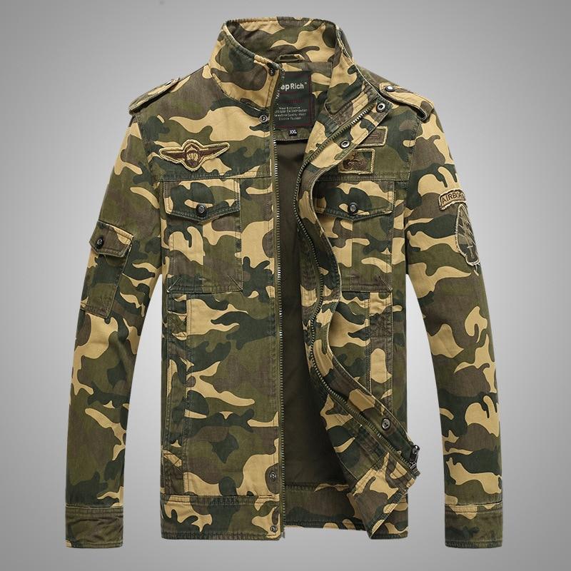 Տղամարդիկ Bomber Jacket Աշուն / Ձմեռ - Տղամարդկանց հագուստ - Լուսանկար 1