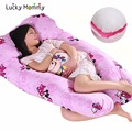 17 Estilos de Algodón Ayuda de La Cintura Cómodas Almohadas en forma de U Almohada de Cuerpo para Las Mujeres Embarazadas de Maternidad Lado Almohada Para Dormir