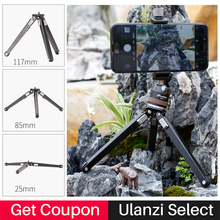 Ulanzi Leofoto MT-02 Durable Metal Tripod for Phone,Professional Travel Table Tripod Stand w 360 degree Ballhead for Mini Camera