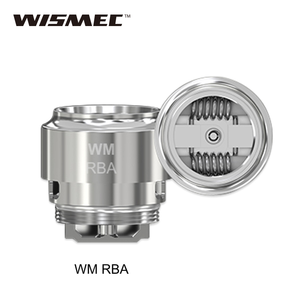 Original WISMEC WM RBA Coil For Wismec Gnome Tank Supports Dual Coil Building Huge Vapor And Optimal Flavor MEC WM RBA Coil Head