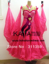 Free shipping,New Competition organza ballroom Standard dance dress,juvenile dance clothing,stage performance wear-B130318