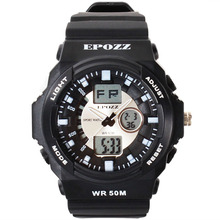 New Mens Military watches racing sports watches reloj hombre relojes de marca EPOZZ waterproof children digital watches cheap Resin 21cm 5Bar Buckle ROUND 29mm 11mm Hardlex Shock Resistant Water Resistant Stop Watch Diver Chronograph Alarm luminous