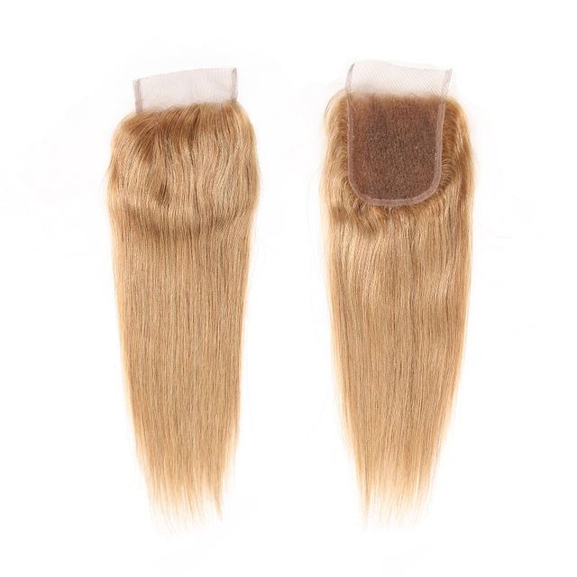 Brazilian Remy Hair 4×4 Closure Straight Hair Middle/Free Part