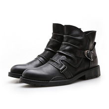 Centenary Thick - heeled boots for leisure in autumn and winter Genuine Leather  chelsea Rubber mens shoes