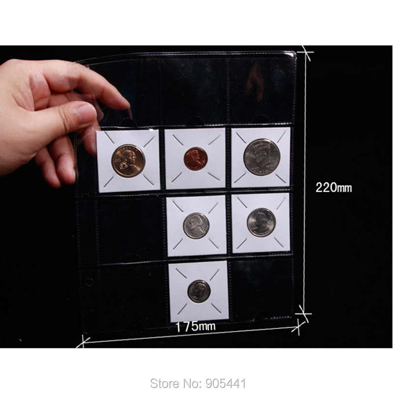 10 x Coin Holder Flips 12 Pocket Album Pages Conventional Size Exclusive Sales Suitable for Paper Coin Holders Flips