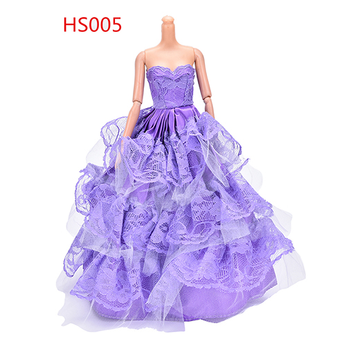 wholesale Beauty Doll Party Dress Elegant Handmake wedding princess Dress Summer Clothing Gown For doll