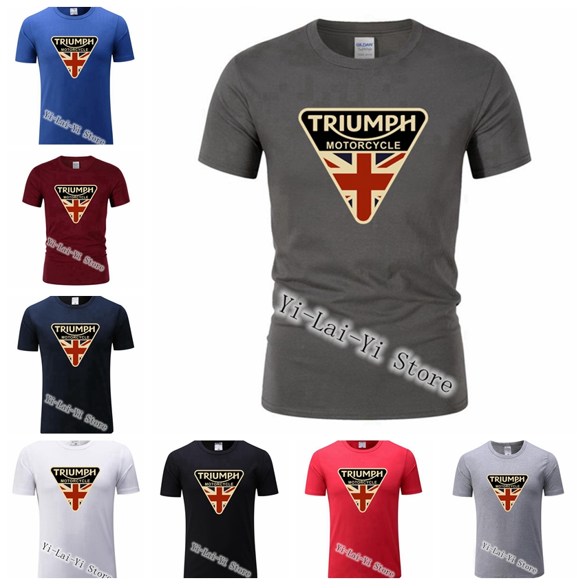 Craked Union Jack Triumph Brand Motorcycle TShirt UK Flag TShirt Men   T     Shirt   Men's Vintage Tee Tops Branded Gifts Men   T     Shirts
