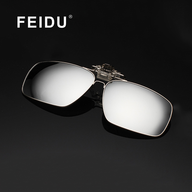 FEIDU 2016 New Polarized Sunglasses Clip Men Metal Frame Glasses Clip For Men Oculos Gafas Driving glasses With Box 9 Colors