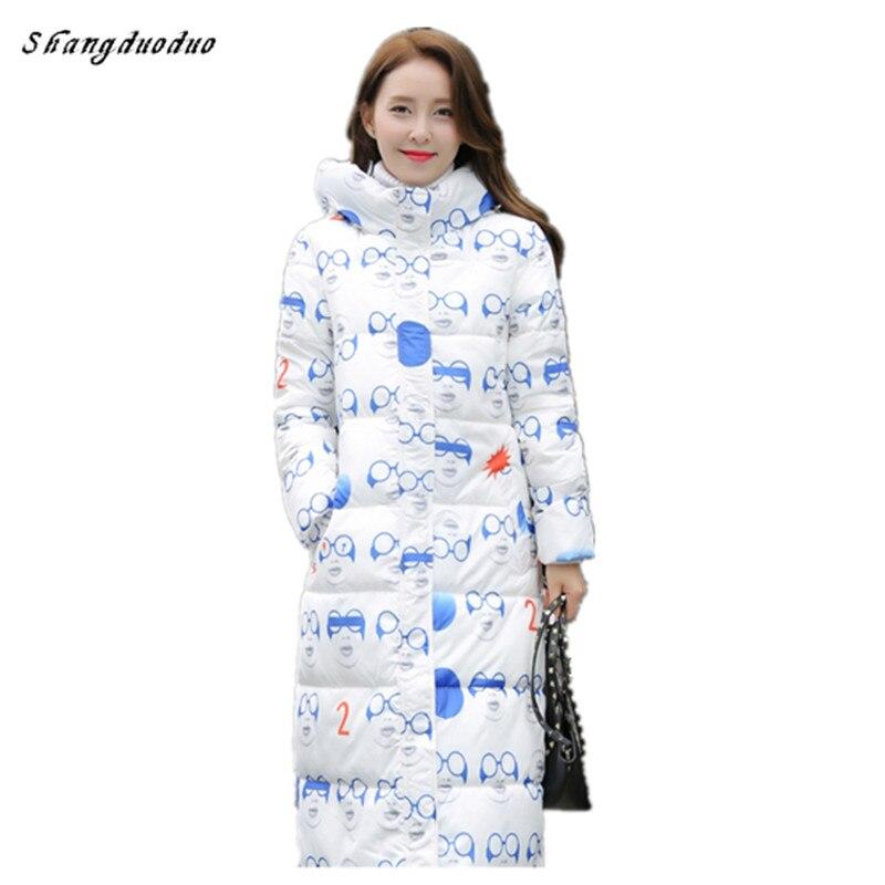 Shangduoduo 2017 Nueva Moda de Invierno chaqueta Con Capucha Espesar Abrigo bell