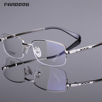 PANDDOG Memory Titanium Alloy Glasses FramesUltra Light Optical Eye Men Glasses Clear Lenses Quality Frame With