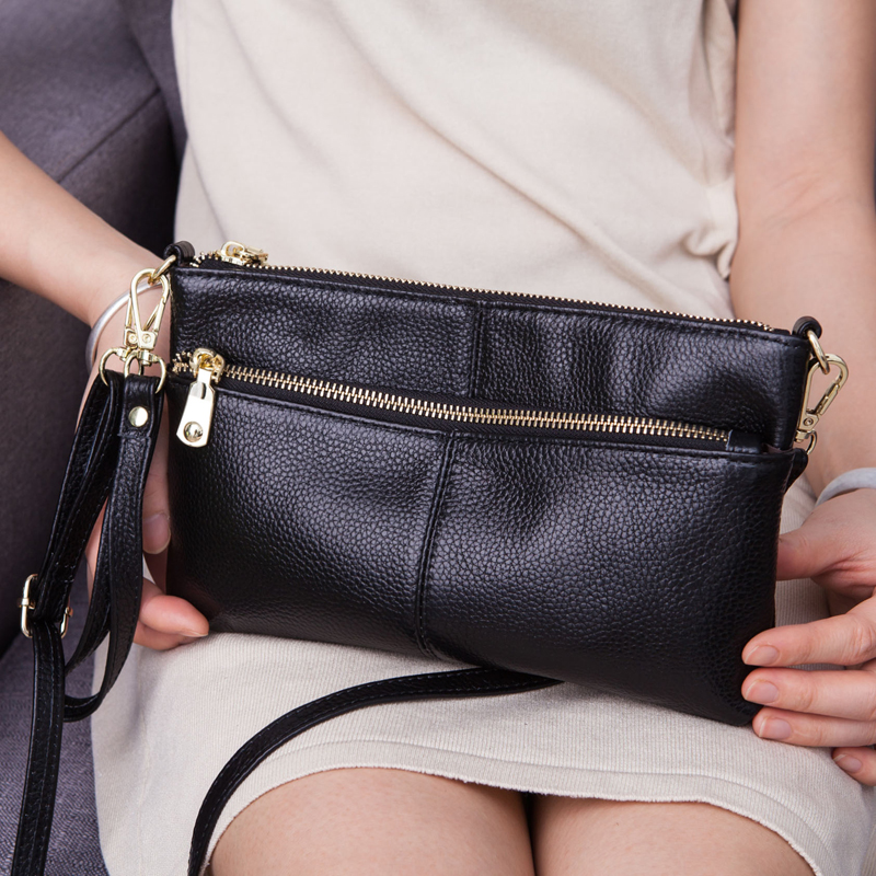 Genuine Leather Clutch Bag Luxury Handbags Women Bags Designer Ladies Small Crossbody Bags for Female Wallet Purse Shoulder Bag image