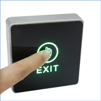 86Type Door Touch Exit Button Push Home Release Switch Panel For Access Control With LED Light