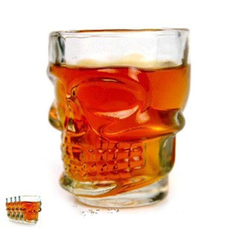 DUOLVQI 4PCS/SET Transparent <font><b>Crystal</b></font> <font><b>Head</b></font> <font><b>Vodka</b></font> Cup <font><b>Skull</b></font> <font><b>Head</b></font> Bottles Wine Glass Cup Set for Whiskey <font><b>Home</b></font> <font><b>Bar</b></font> <font><b>Drinking</b></font> <font><b>Ware</b></font>
