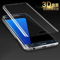 Boomboos 3D borde curvo cubierta completa suave Protector de pantalla para Samsung Galaxy S7/S7 Edge Plus Anti- película transparente HD explosión