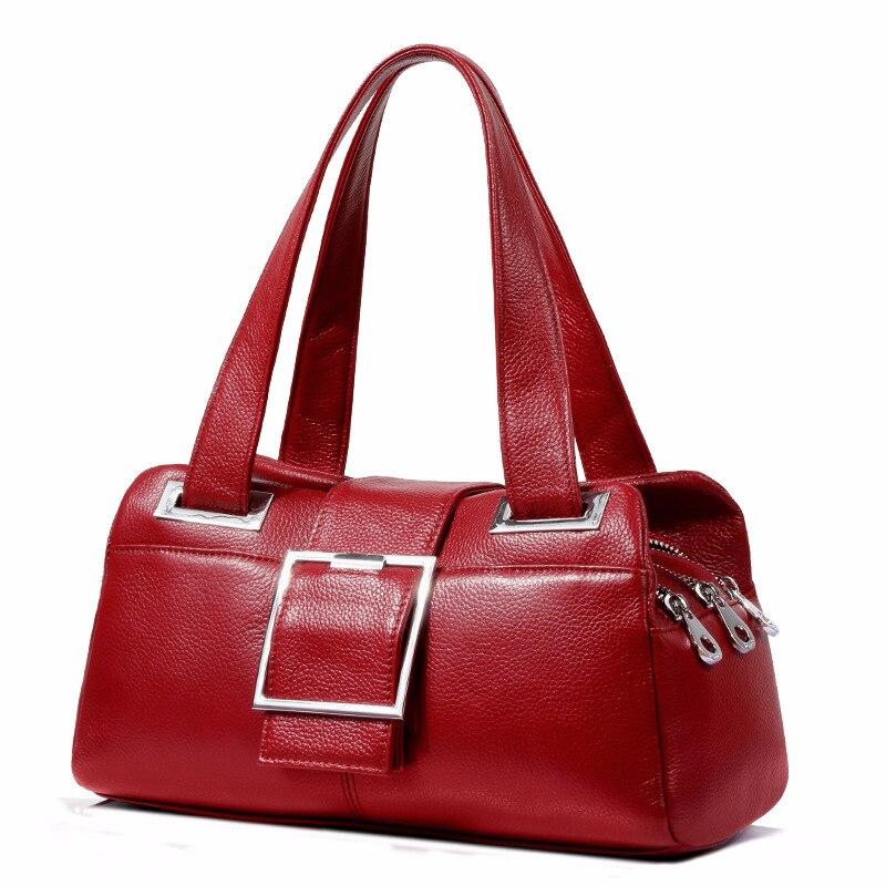 Sac en cuir véritable femmes sac à bandoulière pour femmes 2019 sacs à main femmes marques célèbres dames sacs à main sac Messenger noir