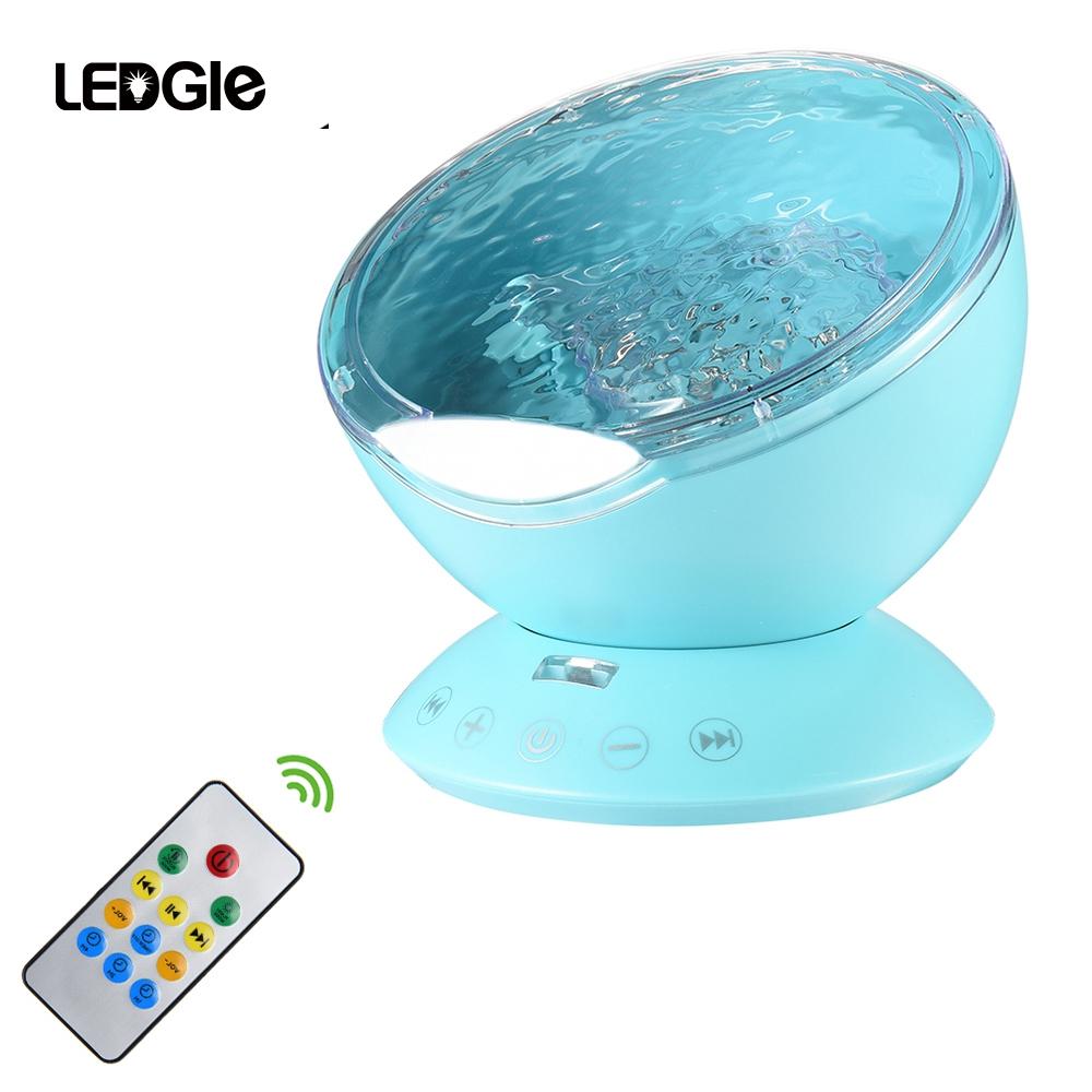LEDGLE Rainbow Sea Wave Projector Lamp & Speakers Daren Waves Led nightlight MINI Aurora Night light northern light Lap Speaker