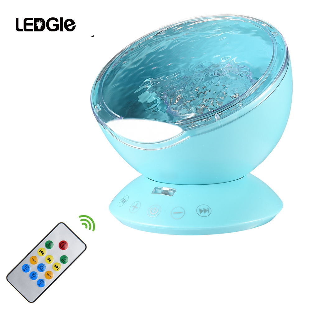 LEDGLE Rainbow Sea Wave Projector Lamp & Speakers Daren Waves Led nightlight MINI Aurora Night light northern light Lap Speaker