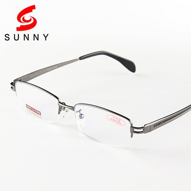 99640637921 High Quality Aspheric Reading Glasses Men Brand Gun Gray Half Frame  Eyeglasses Resin Lens Reader Male