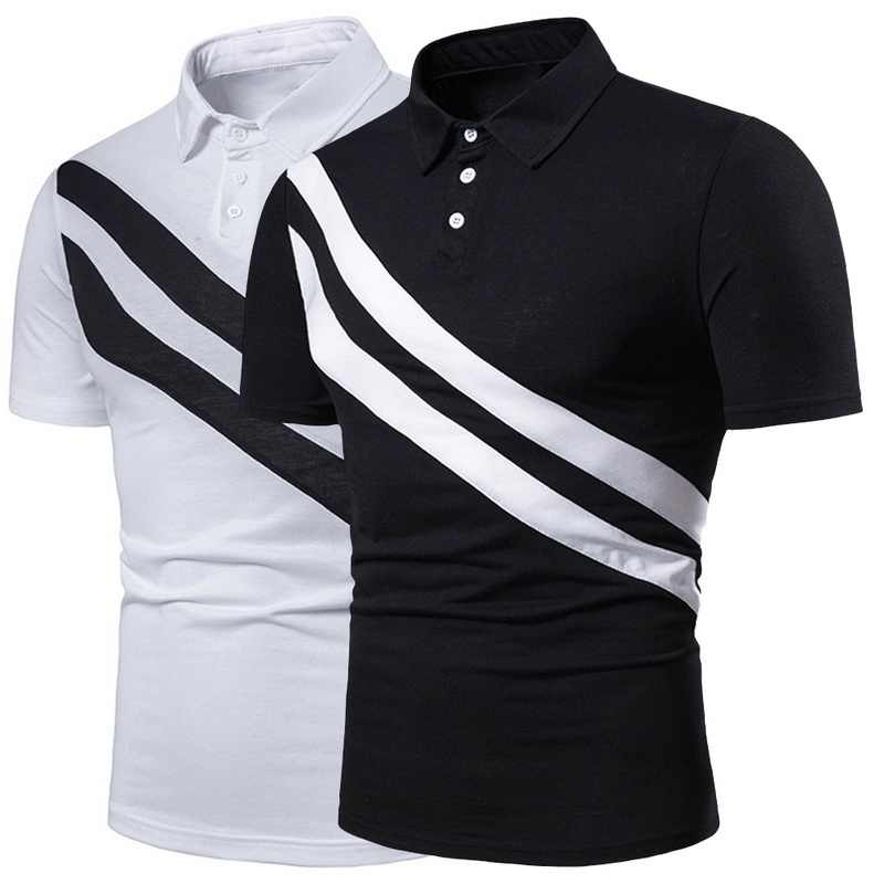 Oeak Design Summer Stripe Polo Shirt 2019 Men Short Sleeve Polo Shirts Slim Fit Mens Casual Tops Gentlemen Brand Polo Shirts