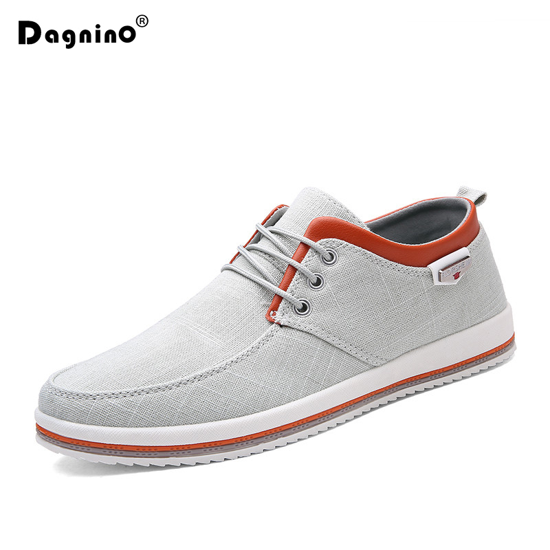 DAGNINO Summer New Men Lace Up Casual Shoes Plus Size 39 47 2018 Flats High Quality Sneakers Handmade Black Hemp Shoes For Male
