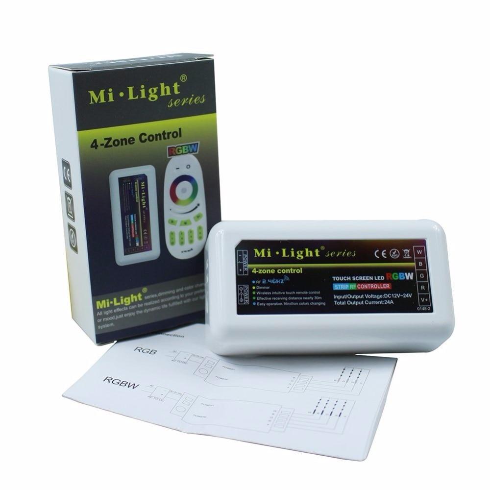 DC 12-24V Milight 2.4G wireless 4 Zone wifi RF dimmer mi.light remote Controller for 5050 3528 3014 RGBW RGB RGBWW strip light